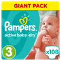 1 - Pampers plenice Active Baby 3 Midi, 108 kosov