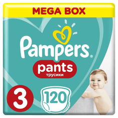 Pampers Plenkové kalhotky ActivePants 3 Midi Mega Box 6-11kg,120 ks