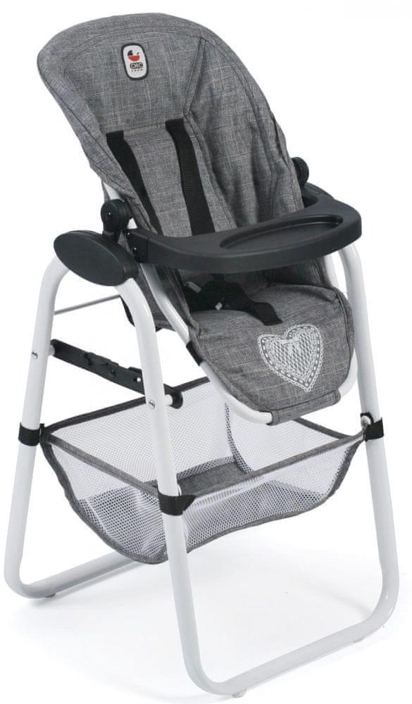 Bayer Chic Vysoká jídelní židlička pro panenky 76