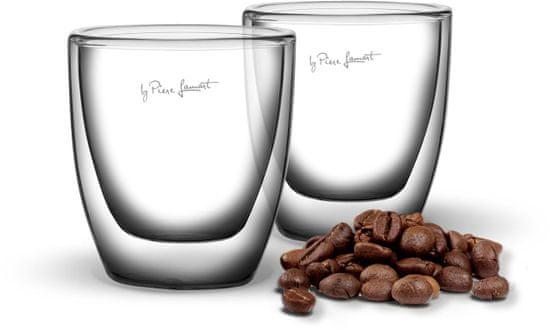 Lamart ESPRESSO hőszigetelt pohár szett 80 ml, 2 db