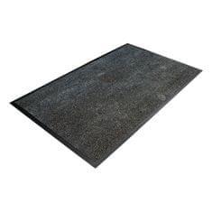 Černá textilní čistící vnitřní vstupní rohož - 0,8 cm