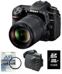 Nikon digitalni zrcalnofleksni fotoaparat D-7500 + 18-140VR + Fatbox + filter