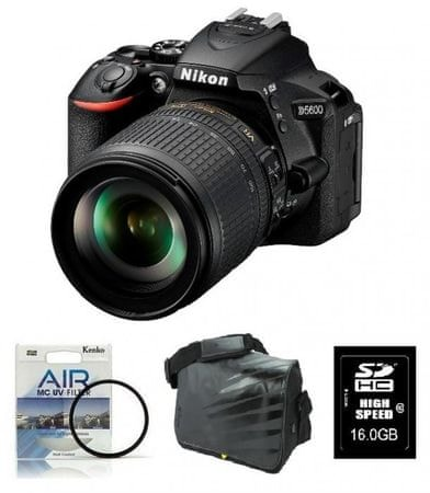 Nikon D5600 + 18-105VR + Fatbox + filter