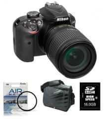 Nikon digitalni DSLR fotoaparat D3400kit z 18-105VR+FATBOX+FILTER