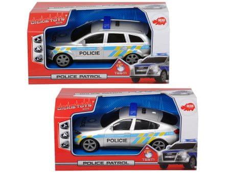 DICKIE Policajné auto 20 cm, česká verzia