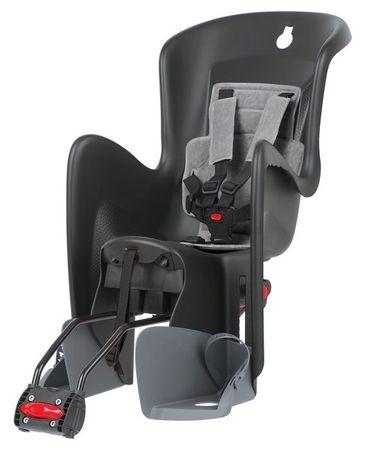 Polisport otroški sedež za kolo Bilby RS, črno/siv