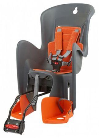 Polisport otroški sedež za kolo Bilby, siva/oranžna