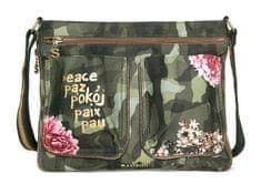 Desigual ženska ročna torbica zelena Baqueira Militar Flores