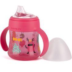 Suavinex První lahvička s oušky BOOO 150ml Růžová