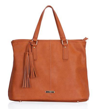 Lydc ročna torbica rjava - odprta embalaža