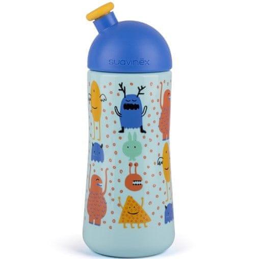 Suavinex Třetí láhev BOOO 360ml, Modrá