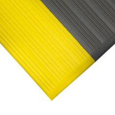 Šedo-žlutá gumová protiskluzová protiúnavová průmyslová rohož - 0,9 cm