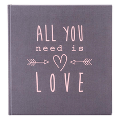 Goldbuch foto album All you need is love 30x31, 60 strani, siv