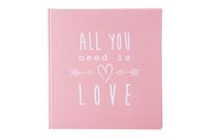 Goldbuch foto album All you need is love 30x31, 60 strani, roza