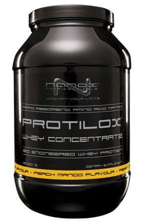 Nanox sirotkine beljakovine Protilox, breskev/mango, 900 g
