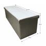 2 -  Skladací taburet, biela ekokoža, ZAMIRA