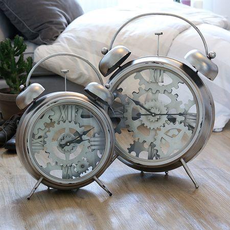 Papillon Stolní hodiny kovové Factory, 52 cm