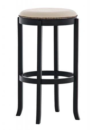 BHM Germany Barová židle Vinty černá / krémová