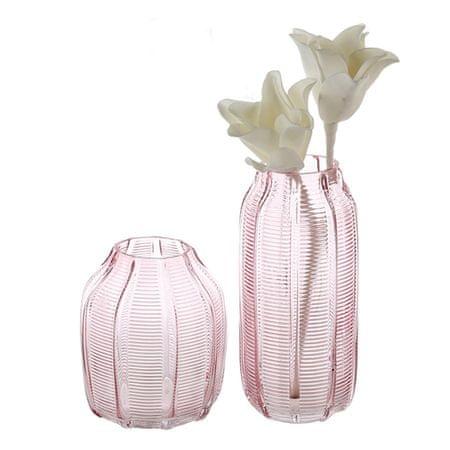 Papillon Váza skleněná Organic, 17 cm, růžová
