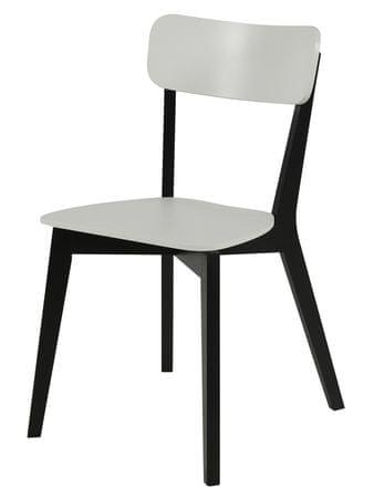 Design Scandinavia Jídelní židle dřevěná Corby (SET 2 ks) černá / bílá