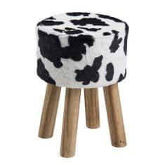 Design Scandinavia Taburetka kulatá Marlen, kraví design