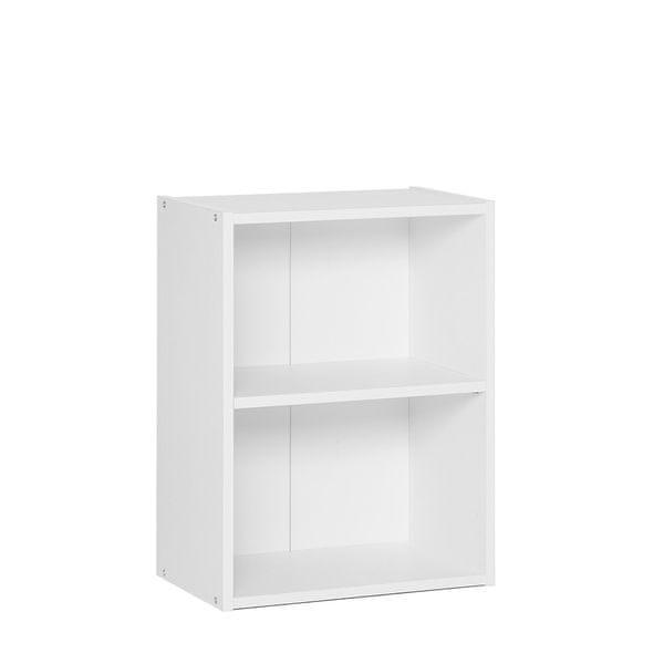 FARELA Policový regál / knihovna Dakota, 54,5 cm, bílá