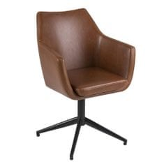 Design Scandinavia Konferenční židle Marte otočná, koňaková
