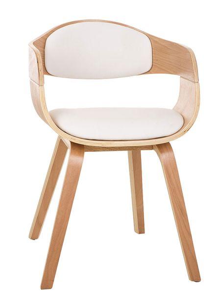 BHM Germany Jídelní / jednací židle dřevěná Kingdom (SET 2 ks), bílá