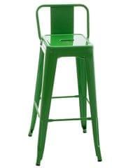 BHM Germany Barová židle kovová Mason, zelená