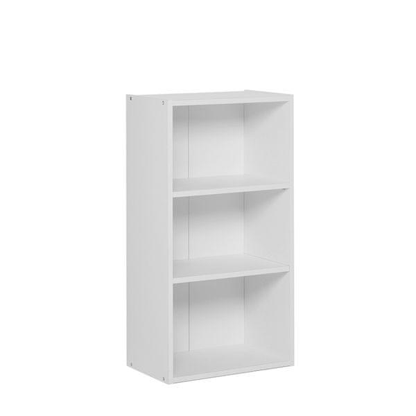 FARELA Policový regál / knihovna Dakota, 78,5 cm, bílá