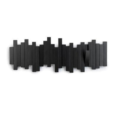 Mørtens Furniture Nástěnný věšák Sonia, 49 cm, černá