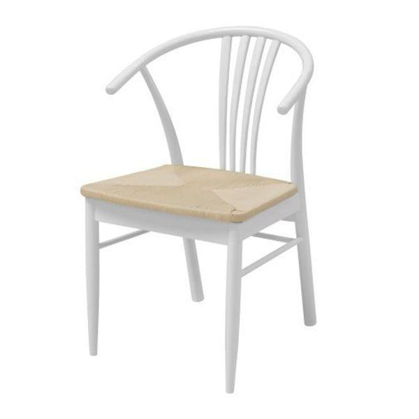 Danish Style Jídelní židle Navy (SET 2 ks), bílá