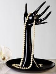 Papillon Stojan na šperky Ruka s miskou černá