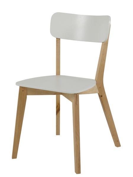 Design Scandinavia Jídelní židle dřevěná Corby (SET 2 ks) bříza / bílá
