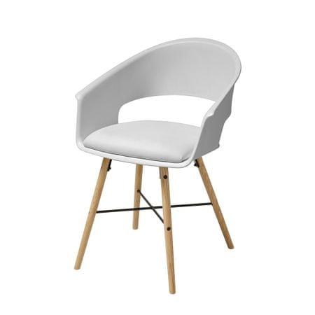 Danish Style Jídelní židle Riva (SET 4 ks), bílá