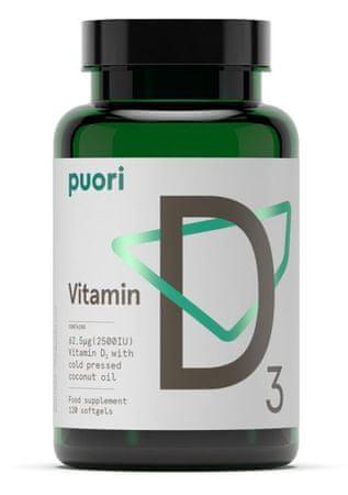 Puori vitamin D, 120 kapsul