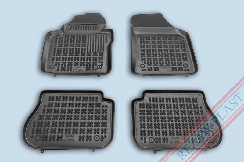 REZAW-PLAST Gumové koberce, černé, sada 4 ks (2x přední, 2x zadní), VW Caddy od r. 2003, Caddy Life Maxi od r. 2008