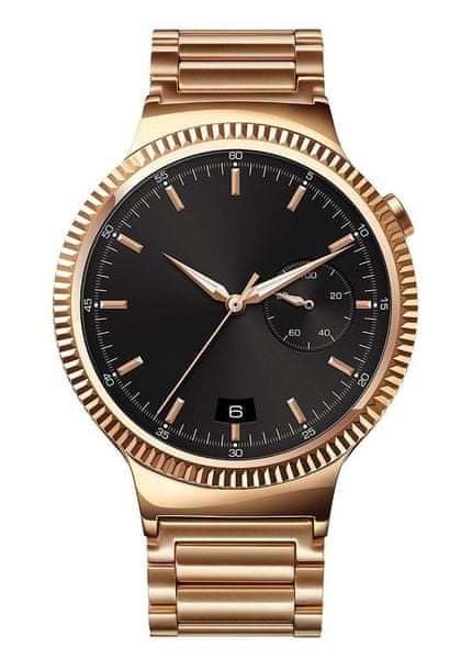 Huawei Watch W1, Stainless Steel with Stainless Steel Link Band - Gold Plated
