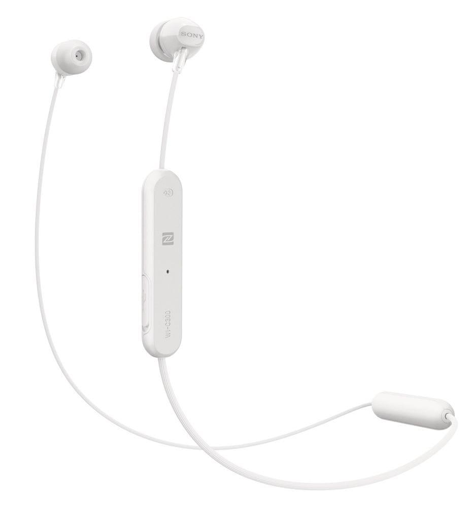 Sony WI-C300 bezdrátová sluchátka, bílá