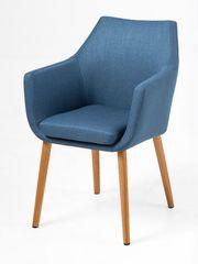 Design Scandinavia Konferenčná stolička s podrúčkami Marte B, modrá