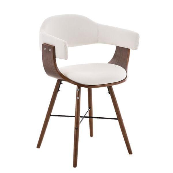BHM Germany Jídelní / jednací židle dřevěná Dancer II. (SET 2 ks), bílá