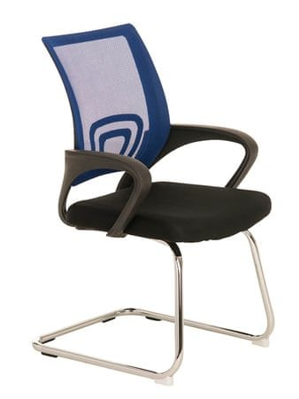 BHM Germany Konferenční židle s područkami Wizard, modrá