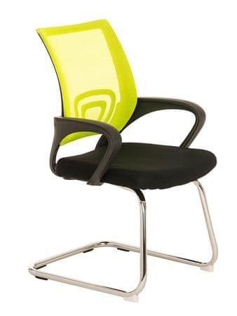 BHM Germany Konferenční židle s područkami Wizard, žlutá