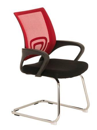 BHM Germany Konferenční židle s područkami Wizard, červená
