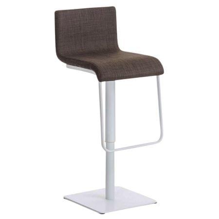 BHM Germany Barová židle Mona, bílá podnož, hnědá