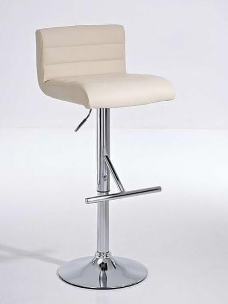 BHM Germany Barová židle Leonidas (SET 2 ks), krémová