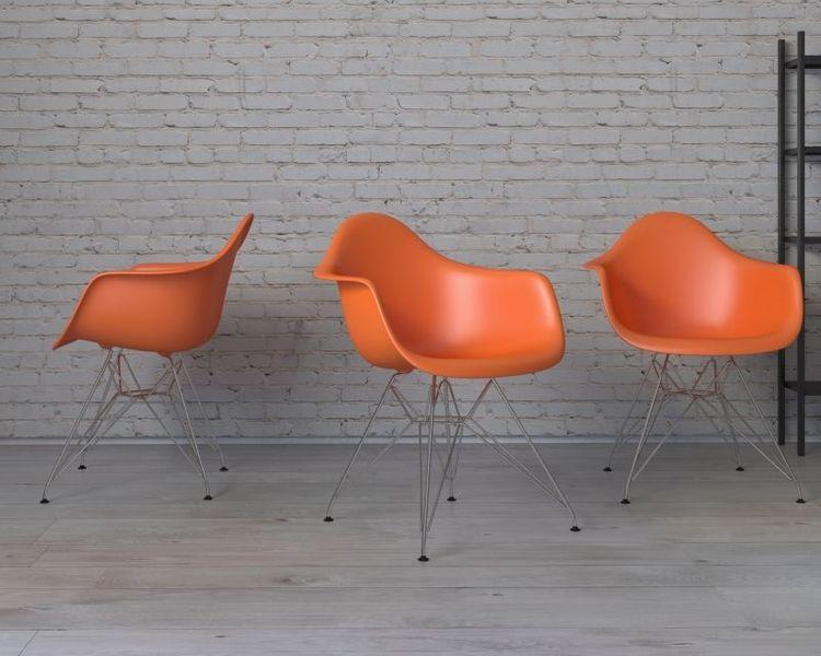 Mørtens Furniture Jídelní židle Blom, oranžová