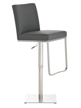 BHM Germany Barová židle s nerezovou podnoží Cargo, šedá