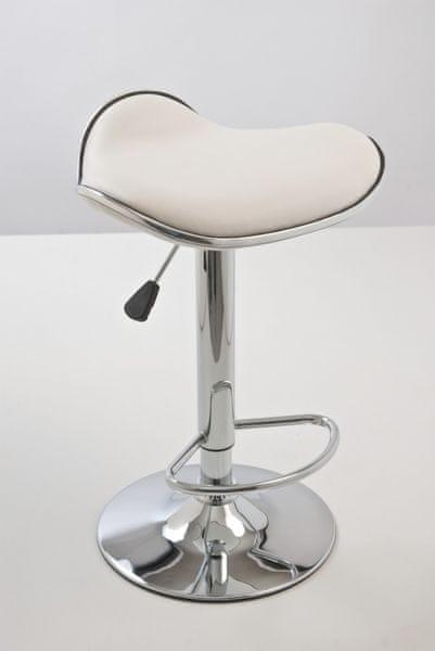 BHM Germany Barová židle Vega bez opěráku (SET 2 ks), bílá