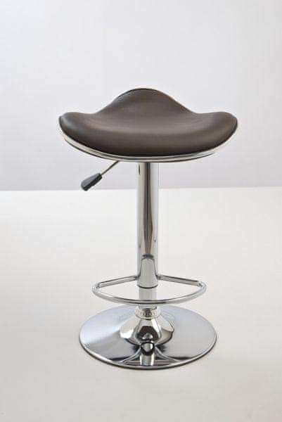 BHM Germany Barová židle Vega bez opěráku (SET 2 ks), hnědá